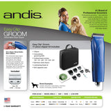 Andis EasyClip Groom Pro Detachable Blade Pet Animal Dog Hair Clipper 21485