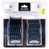 Andis 7 Piece Master Premium Metal Comb Set Hair Clipper Attachments 33645