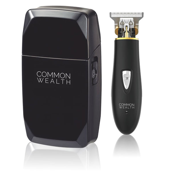 Common Wealth Finishing Kit Pro Cordless Shaver Skeleton & Outliner Hair Trimmer Combo