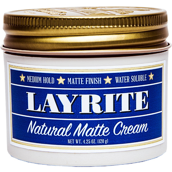 Layrite Natural Matte Cream 4.25oz Pomade Hair Styling Wax Medium Hold