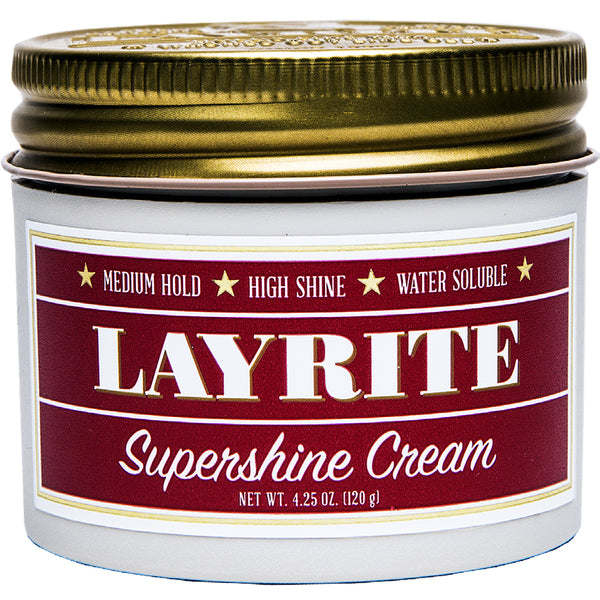 Layrite Supershine Hair Cream 4.25oz Pomade Hair Styling Wax Medium Hold Shine
