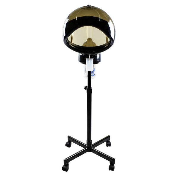Professional Salon Hair Steamer With Rolling Stand Hood Color Processor
