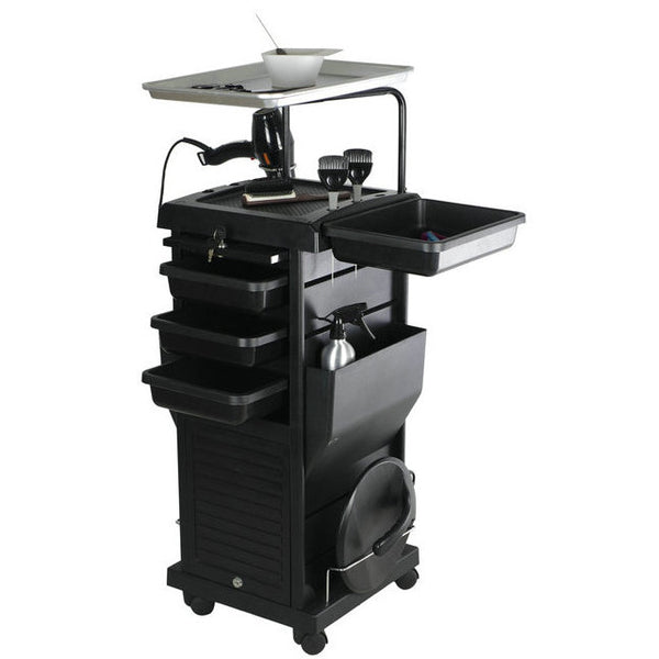 Chromatique Pro Lockable Rollabout Station Trolley With Tray 100D