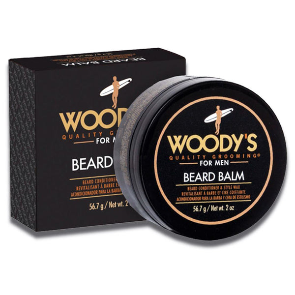 Woody's Beard Balm for Men Styling Wax Conditioner Shine Barber