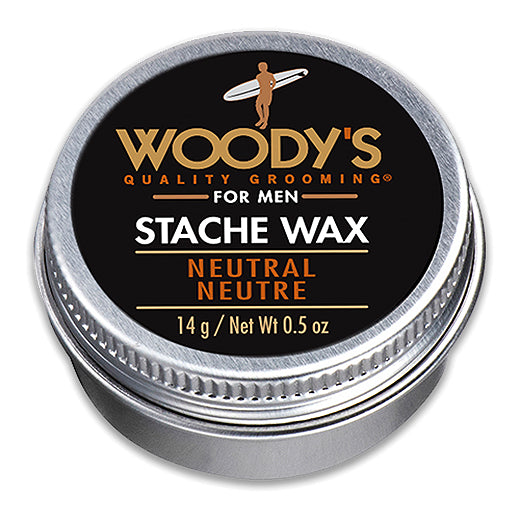 Woody's Stache Wax Neutral Neutre 14g Mustache Styling & Conditioning Wax