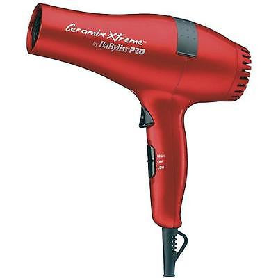 Babyliss PRO Ceramix Xtreme Ceramic Light Salon Hair Blow Dryer Red BABR5572