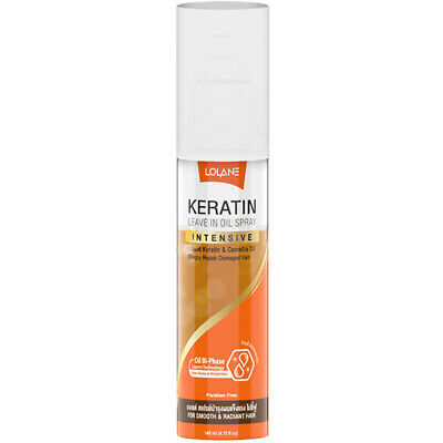 Lolane Keratin Leave in Oil Spray Intensive Liquid Keratin Damaged Hair Repair