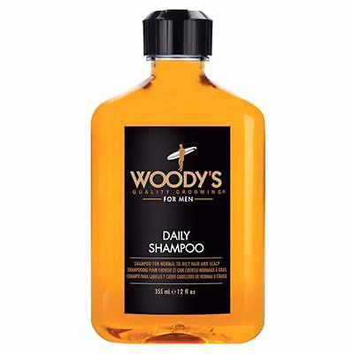 Woody's Daily Shampoo for Men 12oz Normal to Oily Hair and Scalp