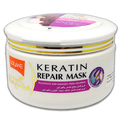 Lolane Natura Keratin Repair Hair Mask Purple Rejuvenate For Coloring Damage