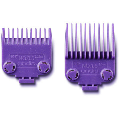 Andis 2 Piece Master Magnetic Comb Set Clipper Guide Attachments 01420 #1/2 & #1-1/2