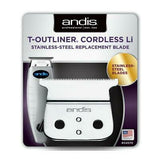 Andis 04570 T-Outliner Cordless Li Stainless Steel Replacement Blade T-Blade