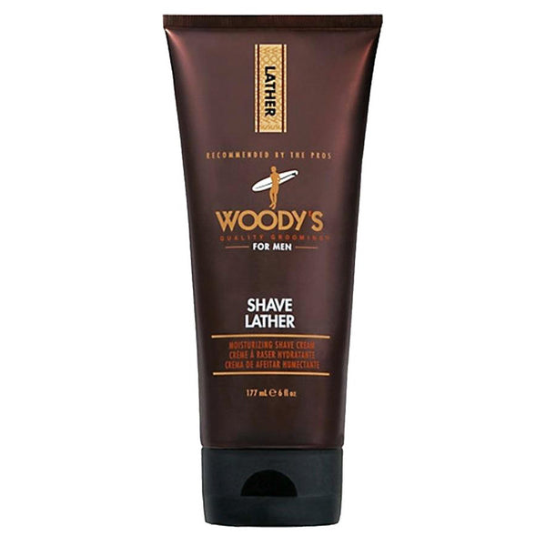 Woody's Shave Lather Moisturizing Shaving Cream Soap 6 oz