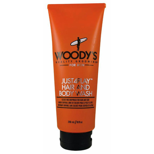 Woody's Just4Play Hair & Body Wash Sulfate Free Shampoo 10 oz