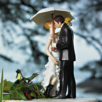 Showered With Love Romantic Couple Wedding Cake Topper