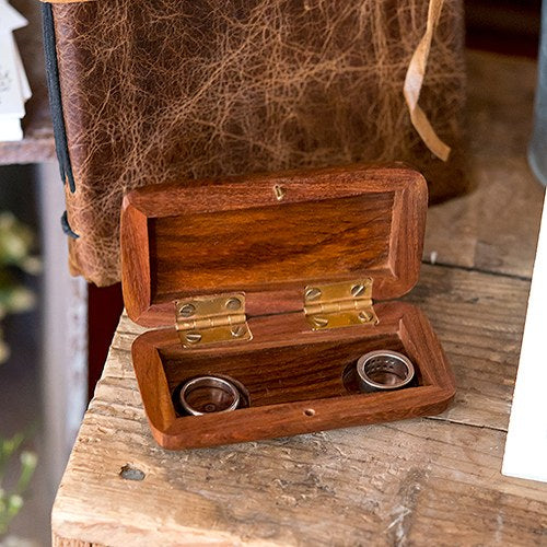 Pocket Size Natural Wedding Ring Box