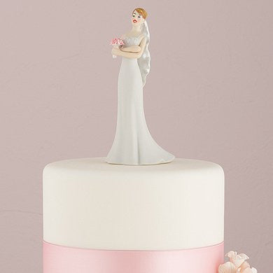 cake topper of bride losing patience
