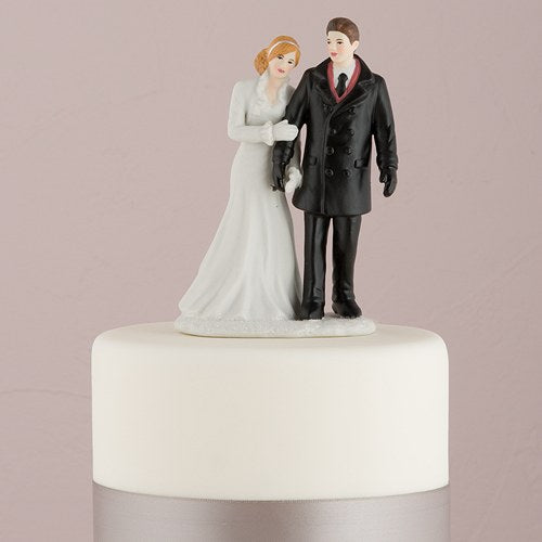 Cake Topper - Winter Bride & Groom
