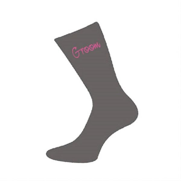 Grey/Pink Wedding Socks