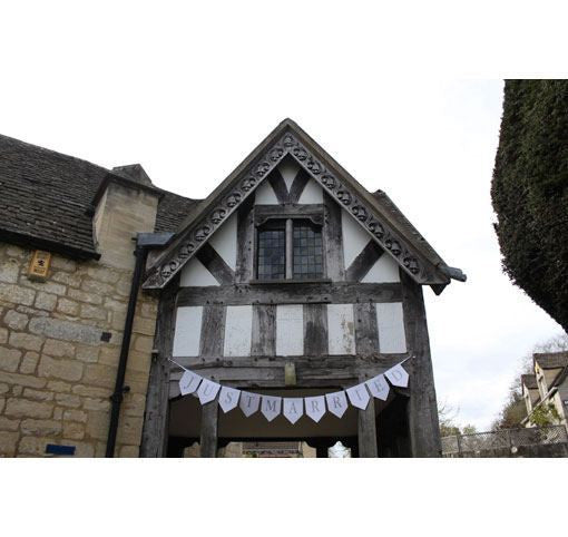 'Just Married' White Bunting