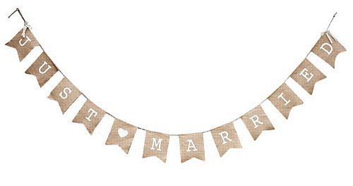Hessian Bunting - Just Married
