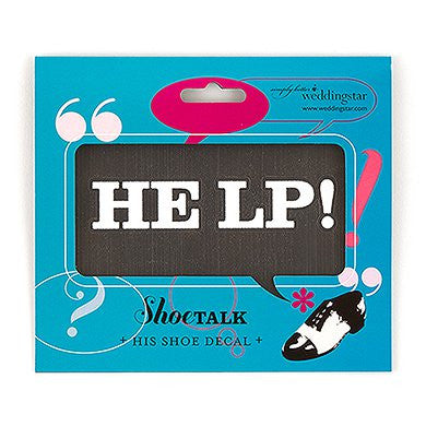 'Help' Shoe Decal