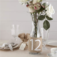 Hessian Table Numbers (1-12)