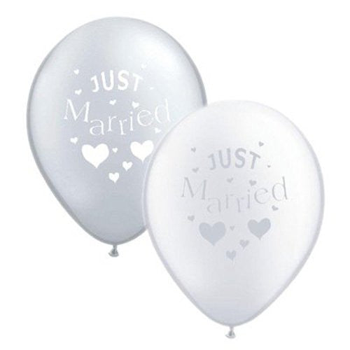 10x Just Married Balloons