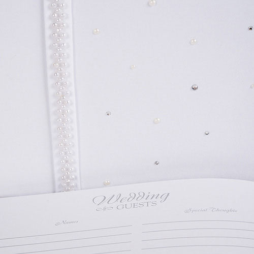 Pearls & Crystals Guest Book
