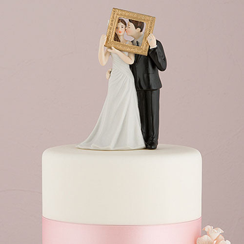 Cake Topper - Couple Holding Picture Frame