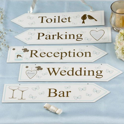 To Have and to Hold Pack of 5 Wedding Signs