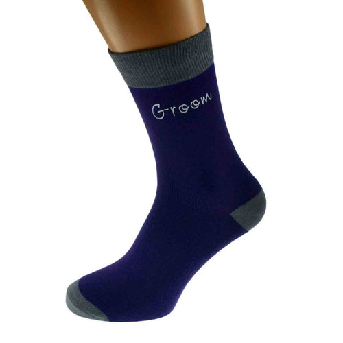 Funky Purple/Grey Wedding Socks