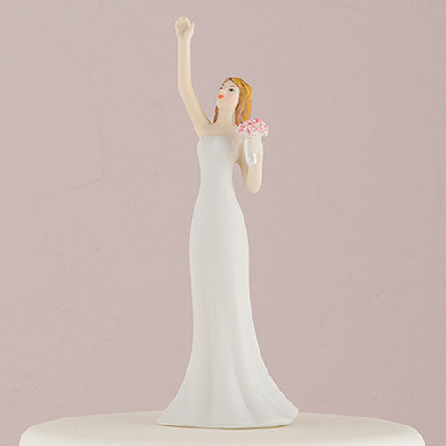 Cake Topper - Bride Reaching