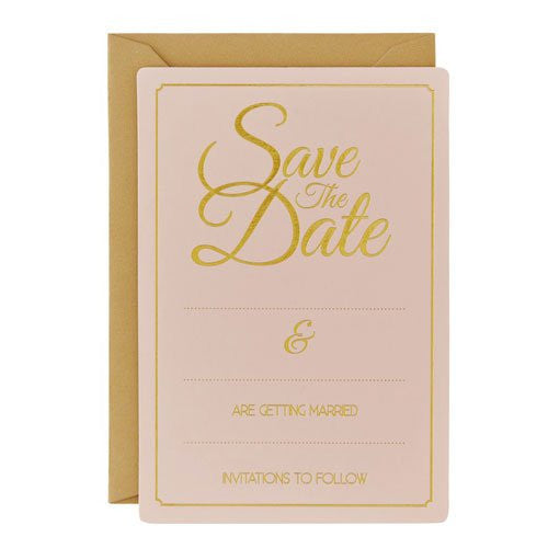 Gold Foiled Save The Date Cards