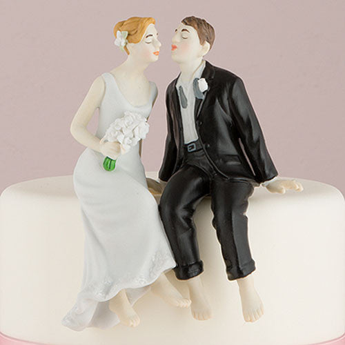 Cake Topper - Sitting Bride And Groom
