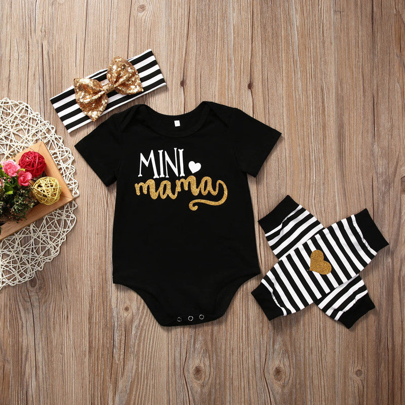 3pcs Baby Girls Clothing Set Newborn Infant Kids Baby Girl Romper+Leg Warmer+Headband Clothes Outfit Set - Baby Clothes Connect