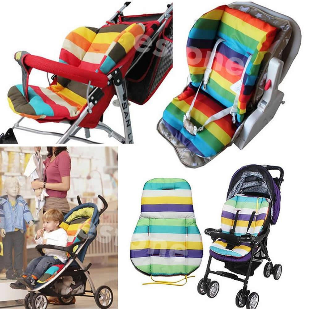 Thick Colorful Baby Infant floor mat Breathable Stroller Padding Liner Car Seat Seat Pushchair Pram Cushion Cotton Mat A4282 - Baby Clothes Connect