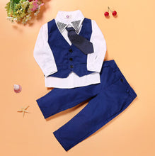 CCS229 summer kids clothes suit hot selling boys 2 pcs suit shirt+overalls childrens clothing set retail - Baby Clothes Connect