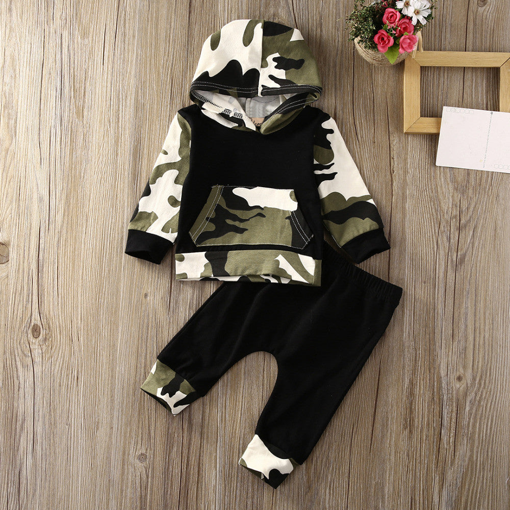 2pcs!! Autumn Spring Infant Clothes Baby Clothing Sets Baby Boys Camouflage Camo Hoodie Tops Long Pants 2Pcs Outfits Set Clothes - Baby Clothes Connect