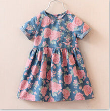 VORO BEVE High hot sell fashion dress baby girl cute denim dresses kids casual clothing summer short sleeve print child vestidos - Baby Clothes Connect