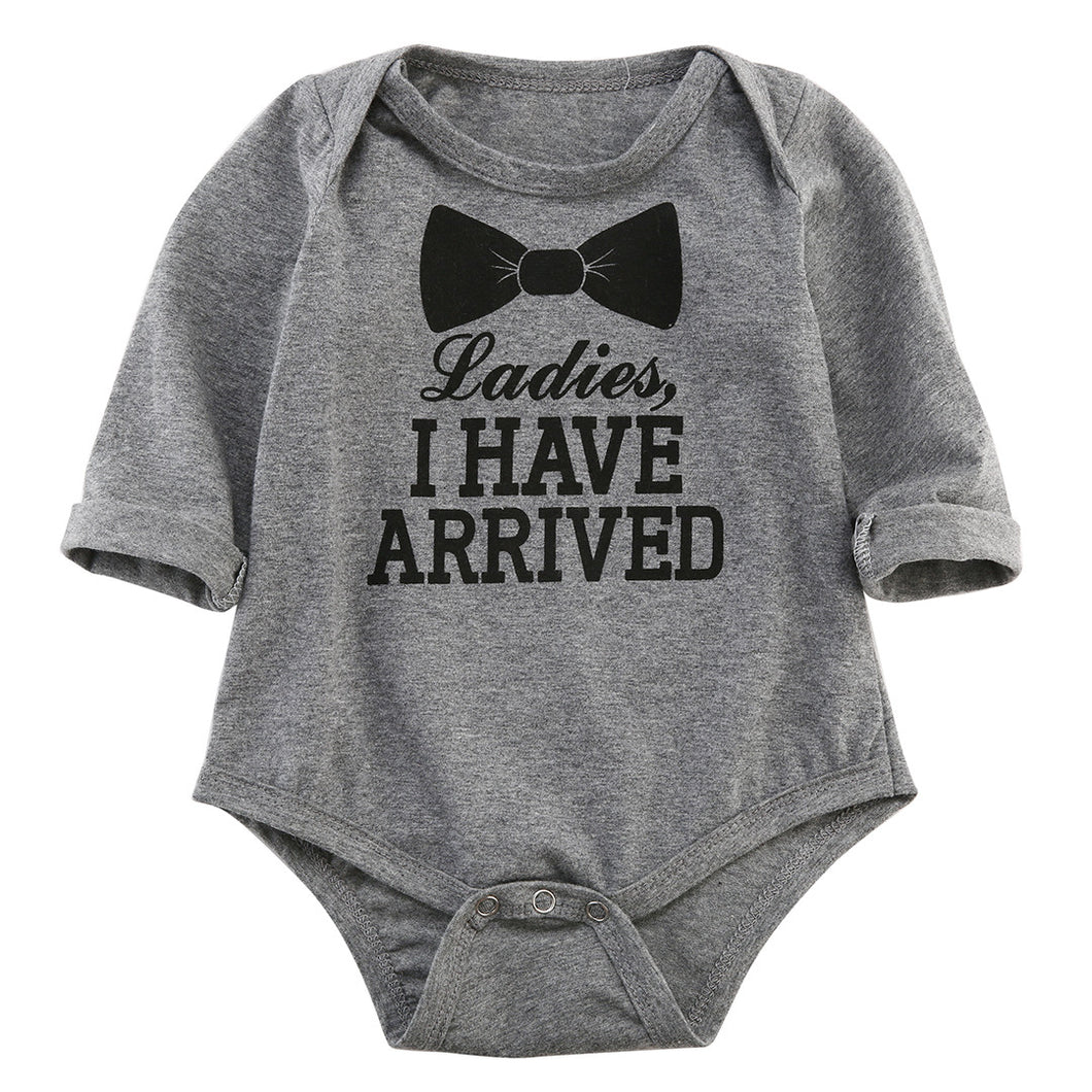 Autumn Winter Casual Kids Baby Girl Boys Letter Printed Long Sleeve Cotton Romper Jumpsuit Outfits - Baby Clothes Connect