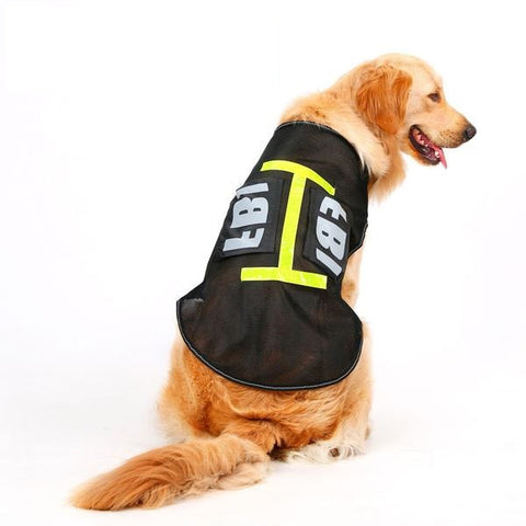 Breathable Summer Mesh Vest for Dogs (FBI design)