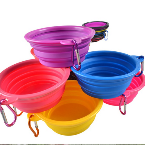 Collapsible Travel Doggy Food & Water Bowl