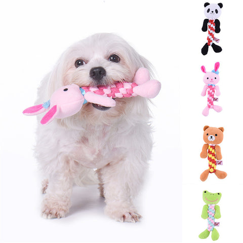 Cute Plush, Rope  & Squeaky Dog Toy