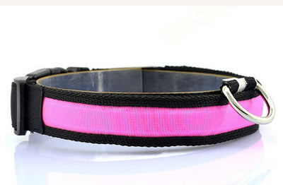 Nightsafe™ LED Dog Collar (Battery or USB rechargeable versions)