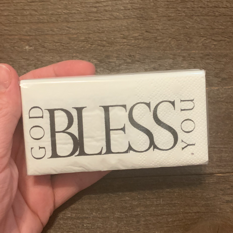 """GOD BLESS YOU"" TISSUE POCKET PACK"