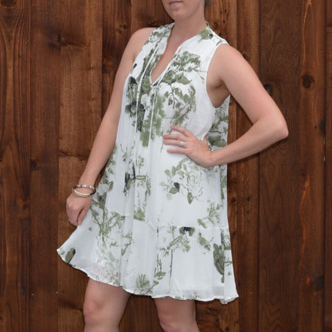 GARDEN RUFFLE DRESS