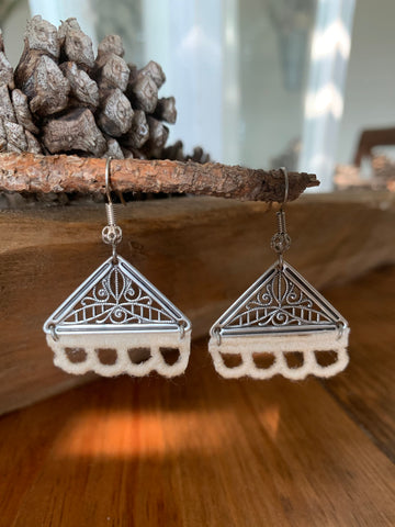 sterling and lace earrings