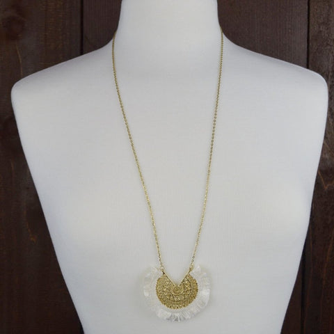 GOLD FILIGREE NECKLACE 36""
