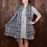 HEATHER GREY 3/4 SLEEVE SWING DRESS WITH POCKETS