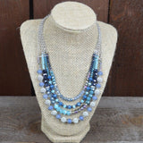 AQUA MULTI LAYER NECKLACE